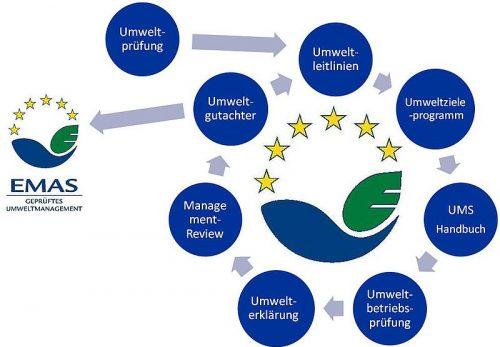 Umweltmanagementzyklus am Beispiel EMAS